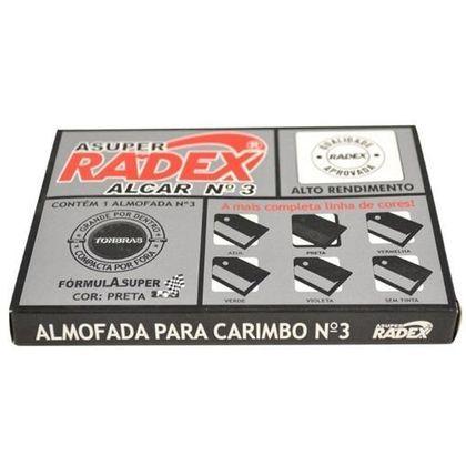 Almofada para Carimbo N°3 Preto Radex Radex