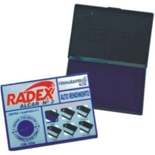 Almofada para Carimbo Radex No3 Azul 240977
