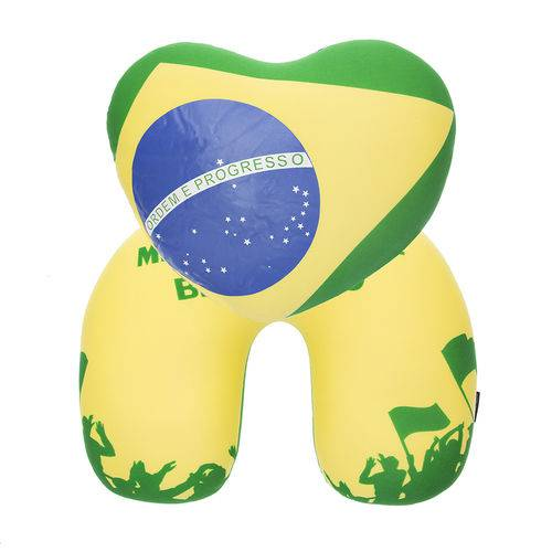 Almofada Pescoço 2 em 1 Coração Brasileiro