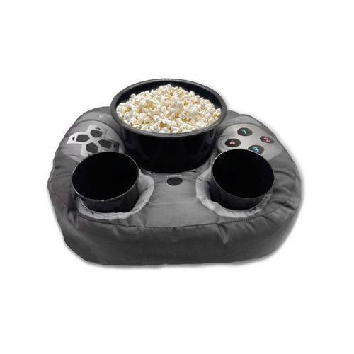 Almofada Porta Pipoca e Copos Controle de Videogame