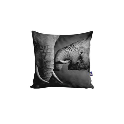 Almofada Quadrada Elefante Família