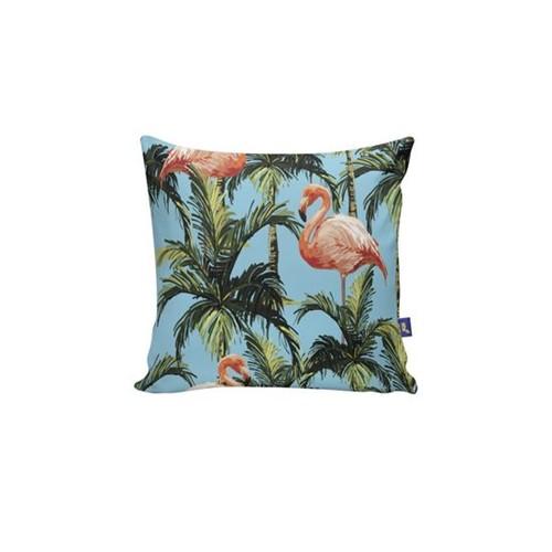 Almofada Quadrada Flamingo Coqueiral