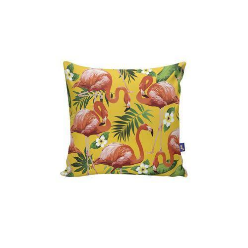 Almofada Quadrada Flamingo Tropical