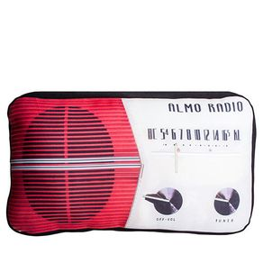 Almofada Rádio Vintage Vermelha