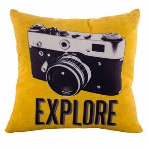 Almofada Retro Camera Fotografica Explore Vintage