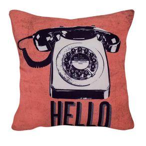 Almofada Retro Hello Ola Telefone Vintage