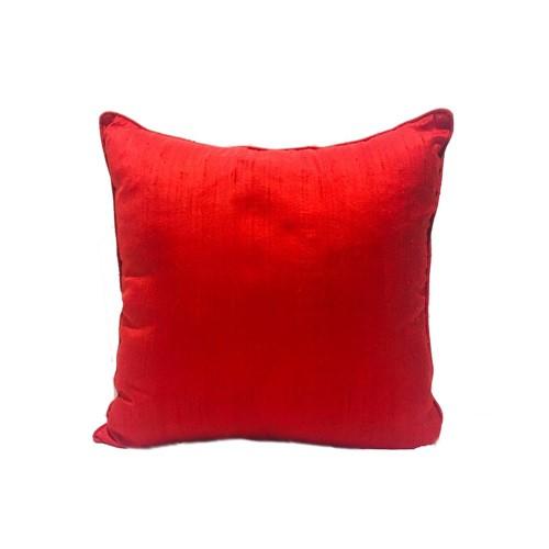 Almofada Seda Vermelha 50x50 - Occa Moderna