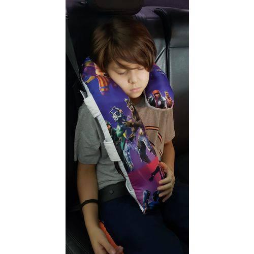 Almofada Travesseiro Protetor Cinto Segurança Fortnite Infantil e Adulto