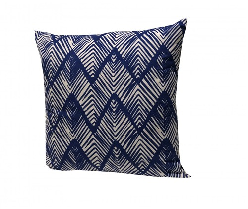 Almofada Veludo Gelo/Azul 50x50 - Occa Moderna