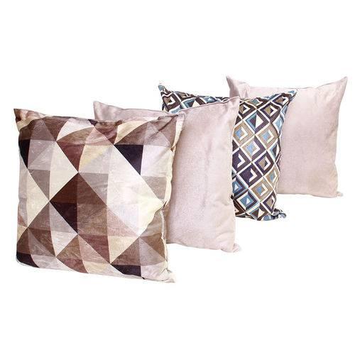 Almofadas com Enchimento Decorativas para Sala 4 Unidades 45cm Estampado