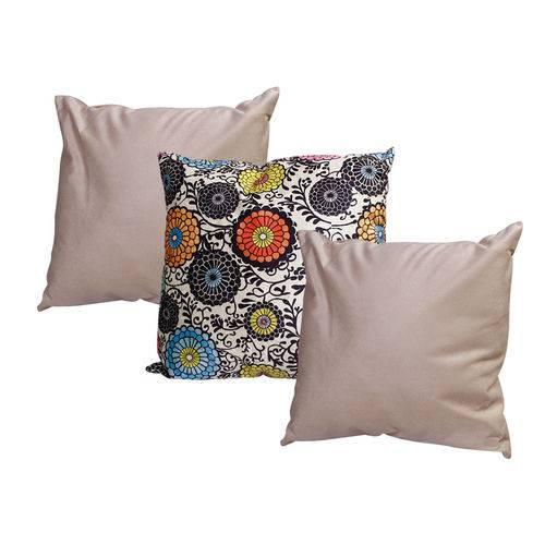 Almofadas com Enchimento Decorativas para Sala 3 Unidades 45cm Estampado