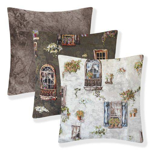 3 Almofadas Decorativas Sala Sofá Cheias Prontas 40x40 45x45