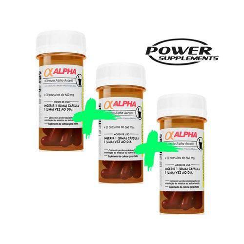 Alpha Axcell 560mg 30 Cápsulas (3 Unidades) - Power Supplements