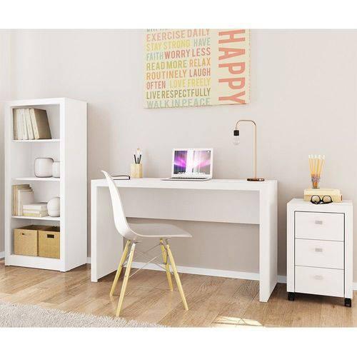 Ambiente para Home Office 03 Peças Branco - Tecno Mobili