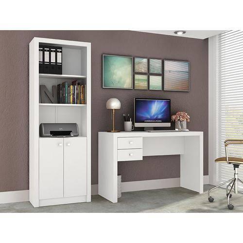 Ambiente para Home Office 02 Peças Branco - Tecno Mobili