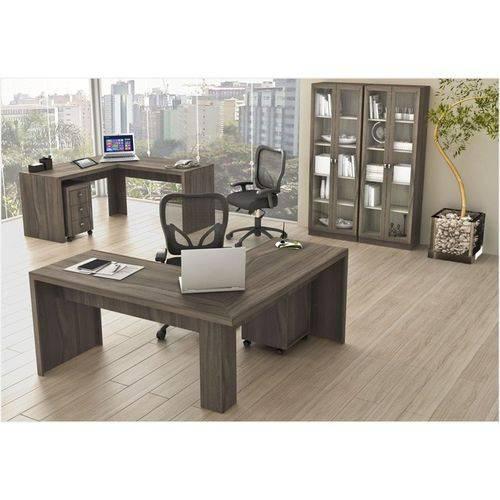 Ambiente para Home Office 06 Peças Carvalho – Tecno Mobili