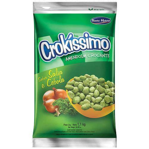 Amendoim Crocante Crokissimo Cebola e Salsa 1,01kg - Santa Helena