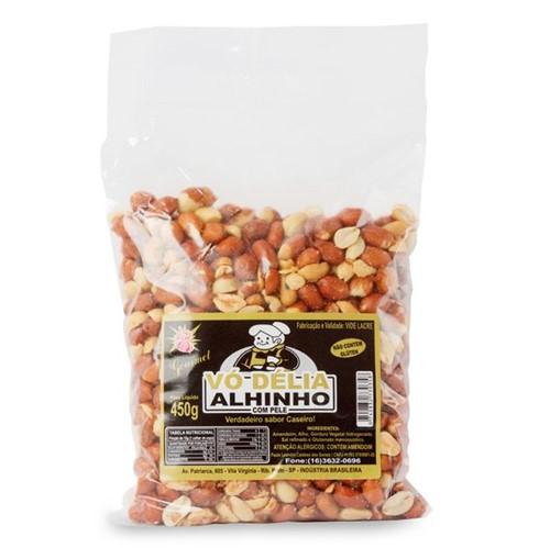 Amendoim Salg Vo Delia 450g com Pele com Alho