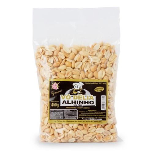 Amendoim Salg Vo Delia 450g Sem Pele com Alho