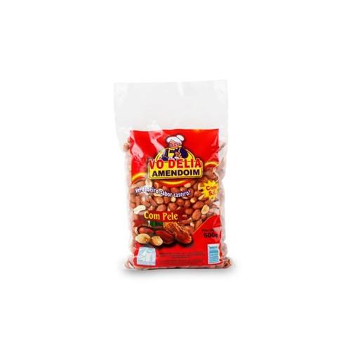 Amendoim Salg Vo Delia 500g com Pele