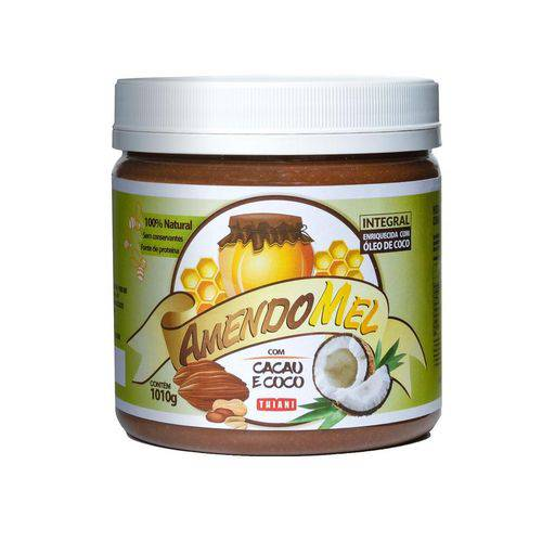 Amendomel Cacau Coco 1kg - Pasta de Amendoim