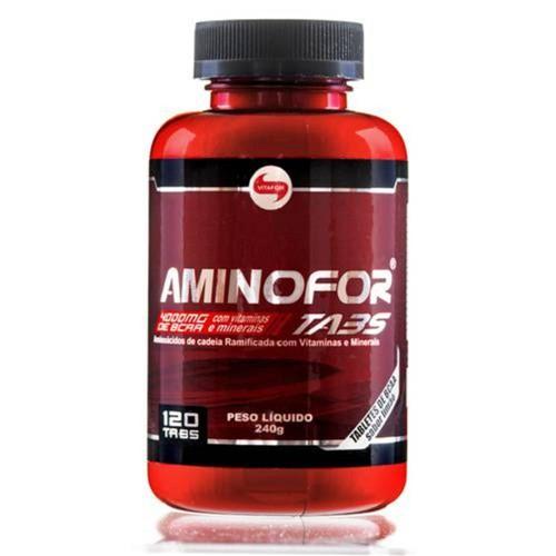 Aminoácido BCAA AMINOFOR - Vitafor - 120 Tabs