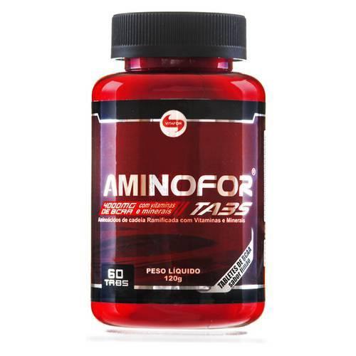 Aminoácido BCAA AMINOFOR - Vitafor - 60 Tabs