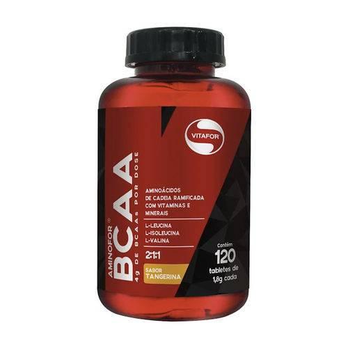 Aminofor Bcaa Sabor Tangerina Vitafor 120 Tabletes