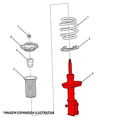 Amortecedor Dianteiro 2.5 Diesel - 52115011 S10