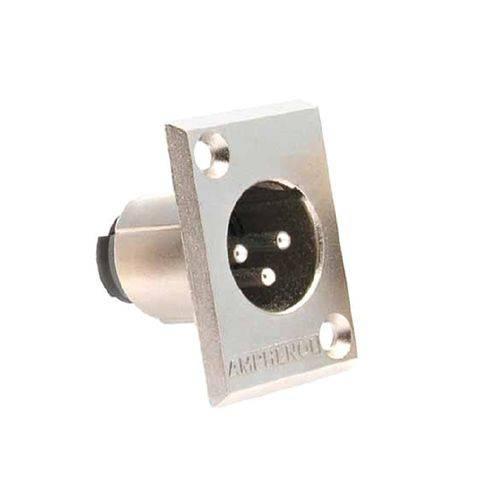 Amphenol - Conector Xlr Macho Painel Ac3mmp