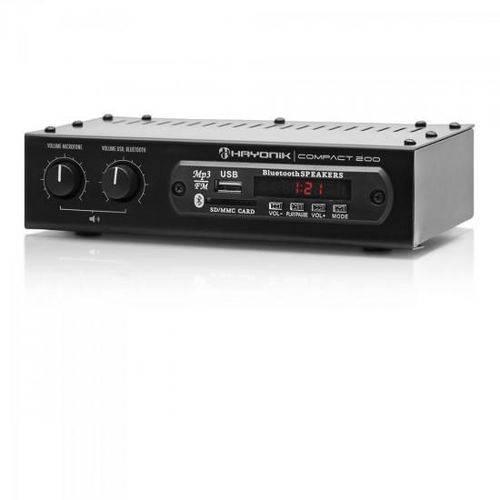 Amplificador 20w com Bluetooth Compact 200 Preto Hayonik
