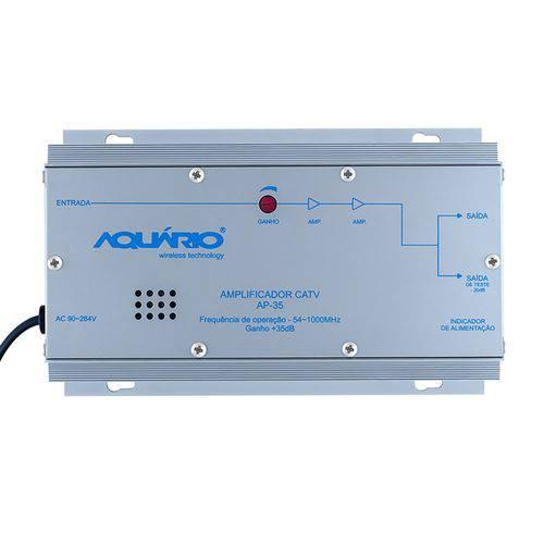 Amplificador de Potência Aquario Ap-35 Catv 54-1000mhz 35db