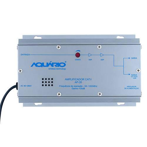 Amplificador de Potencia Aquario Ap-35 Catv 54-1000mhz 35db