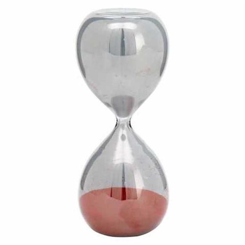Ampulheta Vidro Vermelha 24cm - Occa Moderma