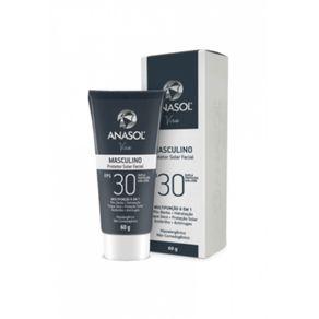 Anasol Protetor Solar Facial Masculino FPS 30 - 60 G