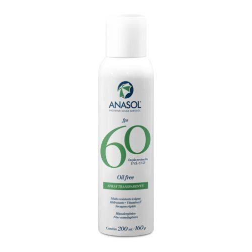 Anasol Protetor Solar Spray Transparente Fps 60