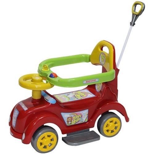 Andador Baby Car Vermelho com Haste Articulada Biemme