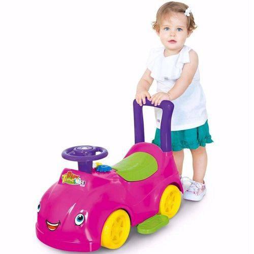 Andador Carrinho com Atividades Play Time Rosa Barbie 2048 - Cotiplás