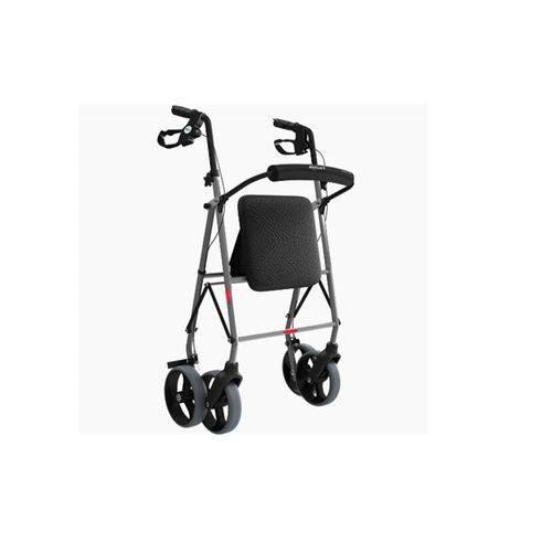 Andador de Alumínio com 4 Rodas Assento e Cesta Bc1555 - Mercur