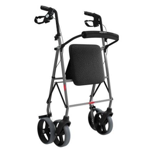 Andador de Alumínio com 4 Rodas, Assento e Cesta - Mercur - Cód: Bc1555