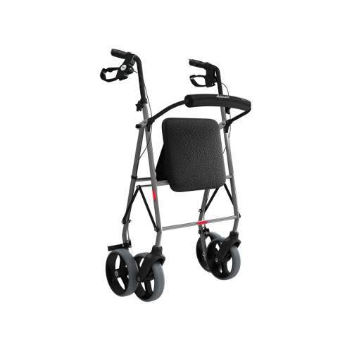 Andador de Alumínio com 4 Rodas e Assento e Cesta (Mercur)