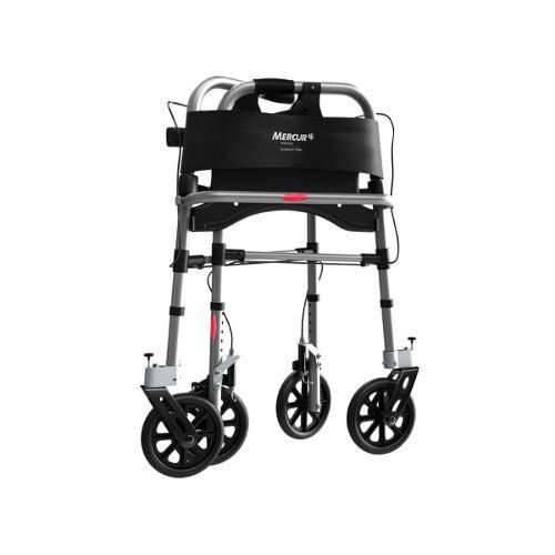 Andador de Alumínio com 4 Rodas e Assento (Mercur)