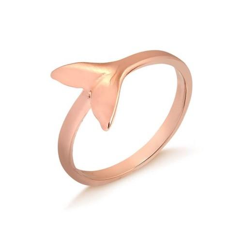 Anel Cauda de Sereia Folheado em Ouro Rosé - 1140000000660