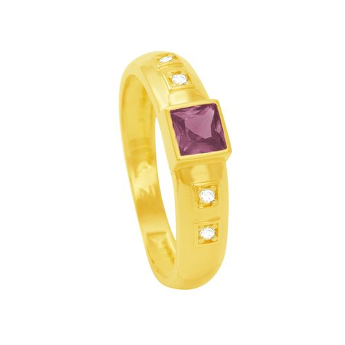 Anel de Formatura em Ouro 18K com Amestista - AU5987