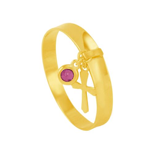 Anel em Ouro 18K com Pingente e Pedra - AU5963
