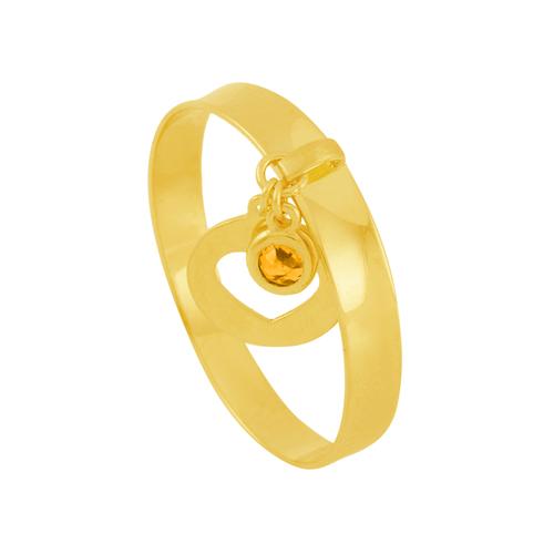 Anel em Ouro 18K com Pingente e Pedra - AU5970