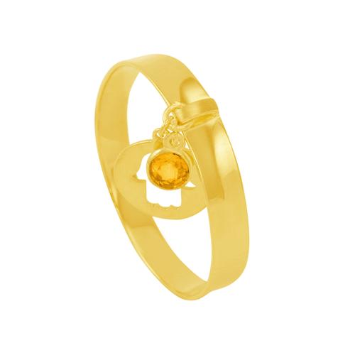 Anel em Ouro 18K com Pingente e Pedra - AU5998