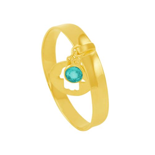 Anel em Ouro 18K com Pingente e Pedra - AU5999