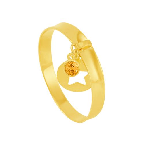Anel em Ouro 18K com Pingente e Pedra - AU6005