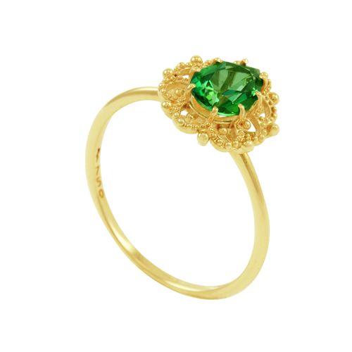Anel em Ouro 18k com Topázio Verde - AU3092